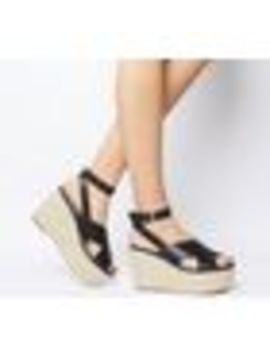 Medal Ankle Strap Espadrille Wedges by Office