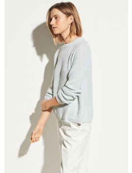 Shaker Rib Cashmere Pullover by Vince