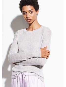 Wool Long Sleeve Sweater Tee by Vince