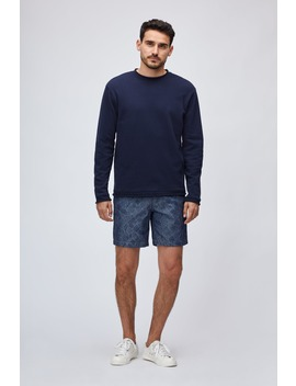 Cotton Linen Roll Neck Crew by Bonobos