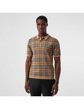 Vintage Check Merino Wool Polo Shirt by Burberry
