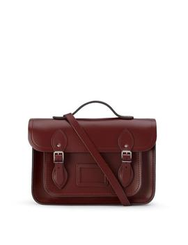 13 Inch Batchel With Magnetic Closure   Oxblood by Cambridge Satchel