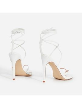 malina-lace-up-heel-in-white-faux-leather by ego