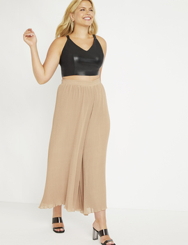 Pleated Wide Leg Pant by Eloquii