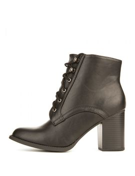 Women's B Ls2951 Low Heel Ankle Boot Black by Shiekh