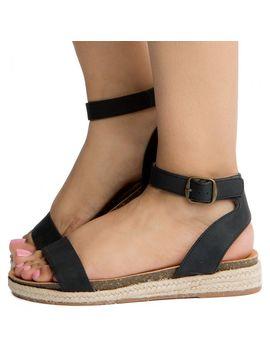Women's Tacoma S Flat Sandals Black Nbpu by Fortune Dynamic
