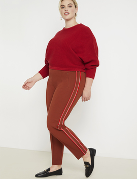 Pintuck Trouser With Side Stripe by Eloquii
