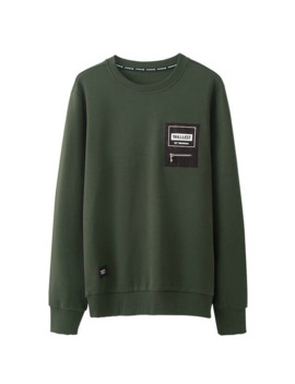 Autumn Men Sweatshirt Zipper Print Letter Army Green Color Pullovers For Man Casual Fashion Clothes 2018 New Male Wear Tops  314 by Ali Express
