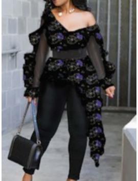 Asymmetric Backless Long Women's Blouse by Tb Dress