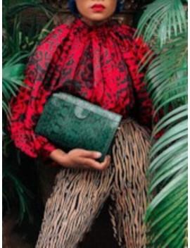 Leopard Print Stand Collar Standard Women's Blouse by Tb Dress