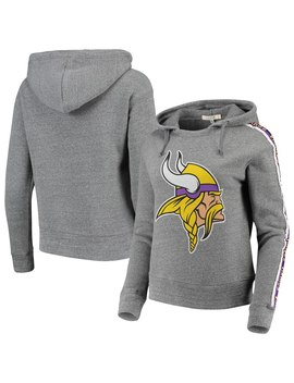 Minnesota Vikings Chiefs Junk Food Women's Sunday Liberty Tri Blend Pullover Hoodie   Heathered Gray by Junk Food
