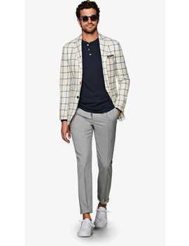 Havana Off White Check Jacket by Suitsupply