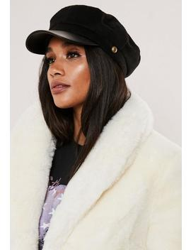 Black Baker Boy Hat by Missguided