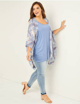 Breezy Printed Overpiece by Lane Bryant