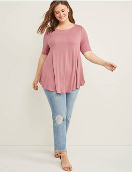 Perfect Sleeve Swing Tunic Top by Lane Bryant