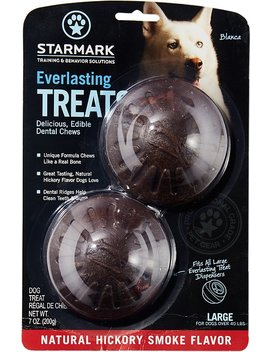 Starmark Everlasting Treats Natural Hickory Smoke Flavor Dog Dental Chews by Starmark