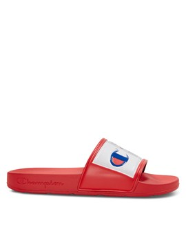 Women's Ipo Jock Slides In Red by Little Burgundy