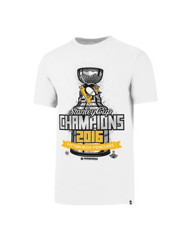 Pittsburgh Penguins '47 2016 Stanley Cup Champions Locker Room Flanker T Shirt   White by '47