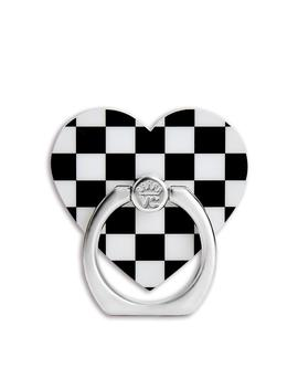 Black Checkered Grip Ring by Velvet Caviar