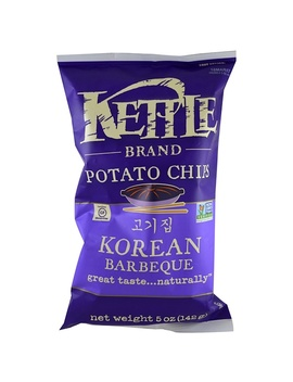 Kettle Foods, Potato Chips, Korean Barbeque, 5 Oz (142 G) by Kettle Foods