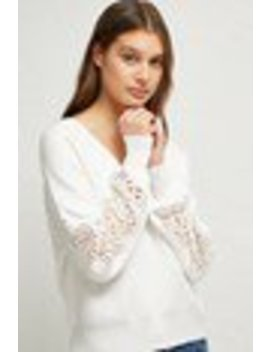 Severine Lace Knit Sweater by French Connection