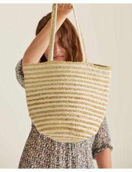 Lae Stripe Jute Bag by Jigsaw