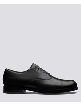 Louis Black Leather Oxford Shoes by Grenson