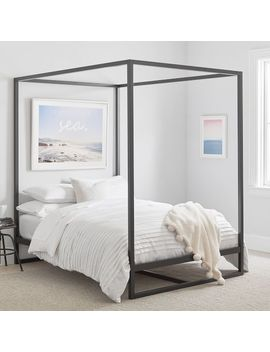 Park Canopy Bed, Queen, Black by P Bteen