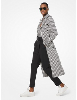 Checkerboard Logo Cady Trench Coat by Michael Michael Kors