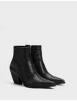 embossed-cowboy-ankle-boots by bershka