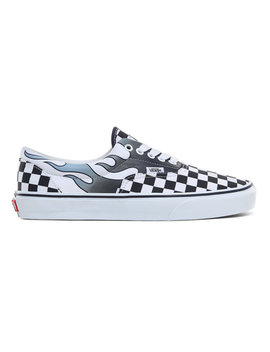 Checkerboard Flame Classic Shoes by Vans