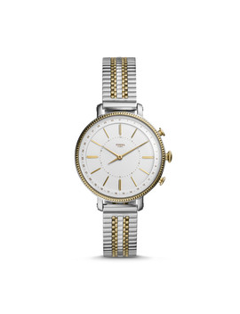 Hybrid Smartwatch   Cameron Two Tone Gold And Silver Stainless Steel by Fossil