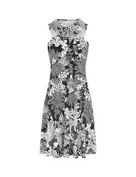 Printed Halterneck Dress by Df054