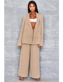 Tan Wide Leg Trousers by Mistress Rocks