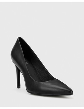 Harman Black Leather Pointed Toe Stiletto Heel by Wittner
