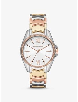 Whitney Tri Tone Watch by Michael Kors