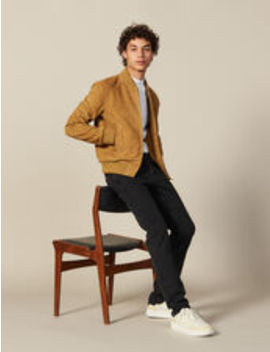 Suede Zipped Jacket by Sandro Eshop