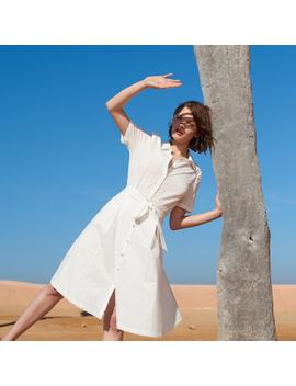 Broderie Anglaise Cotton Shirt Dress by La Redoute Collections
