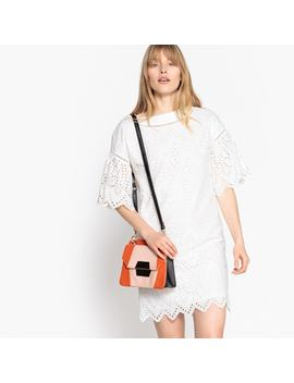 Broderie Anglaise Cotton Shift Dress by La Redoute Collections