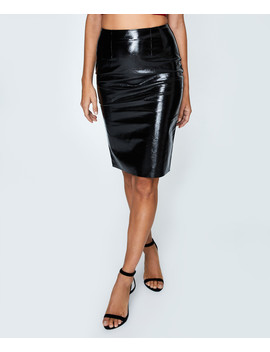 Alexis High Shine Skirt Black by General Pants Co