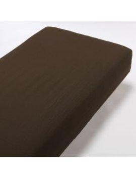 Organic Cotton Triple Gauze Fitted Sheet Brown Q 160x200x18 29cm by Muji