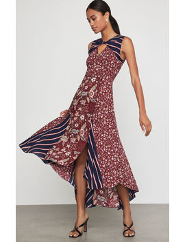 Mixed Print Asymmetric Dress by Bcbgmaxazria