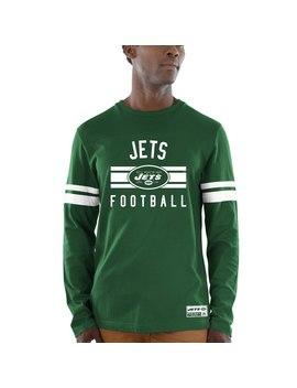 New York Jets Majestic Power Hit Wordmark Long Sleeve T Shirt   Green by Majestic