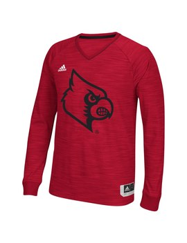 Louisville Cardinals Adidas 2015 2016 On Court Long Sleeve Climalite Player Shooter Shirt   Red by Adidas