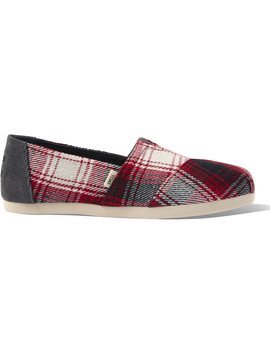 Red Plaid Corduroy Women's Classics Ft. Ortholite by Toms