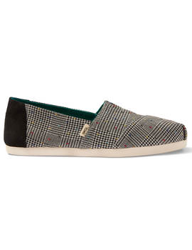 Black Dot Glen Plaid Women's Classics Ft. Ortholite by Toms