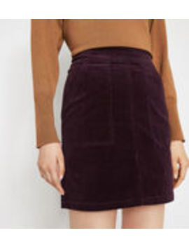 Cord Patch Pocket Mini Skirt by Warehouse