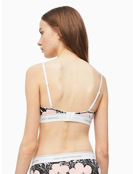 Andy Warhol Printed Unlined Triangle by Calvin Klein