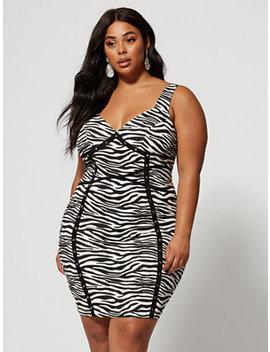 Estella Zebra Print Bodycon Dress by Fashion To Figure