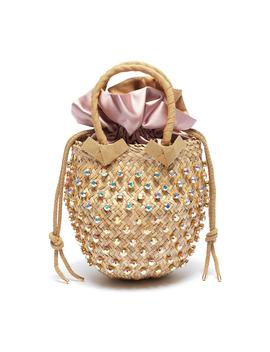 'nina' Small Glass Crystal Basket Bag by Le NinÈ